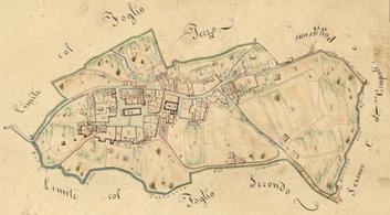 Rivalto e Terroti. Nucleo abitato 1822. Archivio Di Stato di Pisa