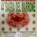 A RIVALTO LA SAGRA DEL MARRONE IL 13 E 14 OTTOBRE 2018